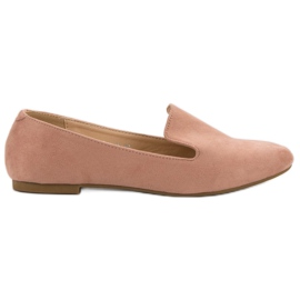 Lily Shoes roze Suede Lords