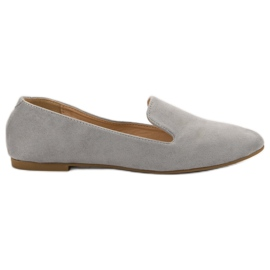 Lily Shoes grijs Suede Lords