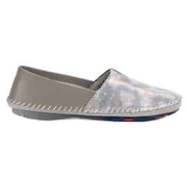 Goodin grijs Lederen schoenen met slip