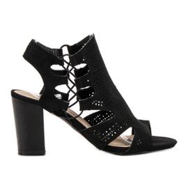 Goodin Modieuze zwarte sandalen