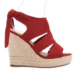 Cm Paris rood Rode sandalen op wedge