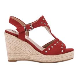 Kylie rood Sandalen met jets