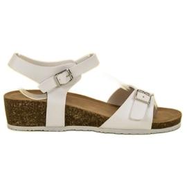 Seastar Klassieke sandalen met sleehak wit