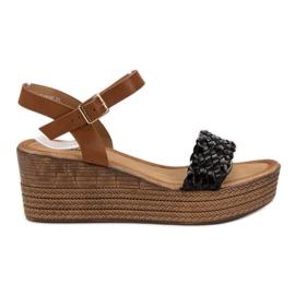 Seastar zwart Lichte sandalen