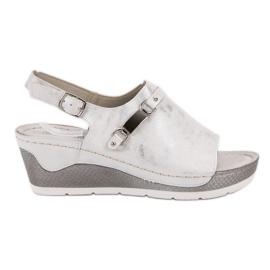 Goodin wit Comfortabele sandalen met sleehak