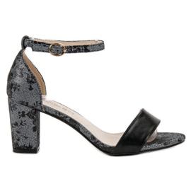 Goodin grijs Stijlvolle sandalen met hoge hakken