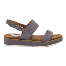 Goodin grijs Grijze sandalen