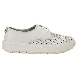 Goodin Lichte lederen schoenen wit