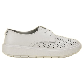 Goodin wit Lichte lederen schoenen