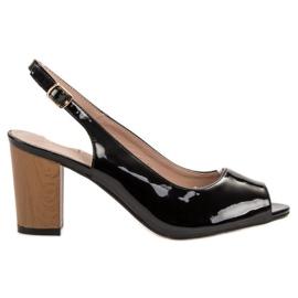 Goodin zwart Gelakte dames sandalen