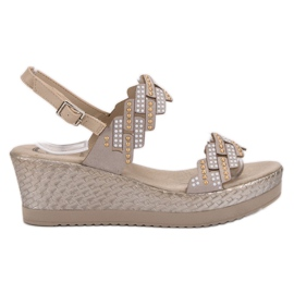 Aclys bruin Lichte sandalen op sleehak