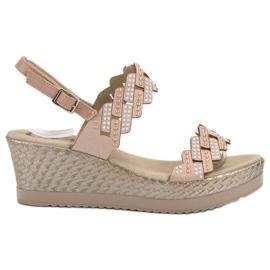 Aclys bruin Lichte sandalen op hakken