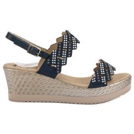Aclys blauw Lichte sandalen op sleehak