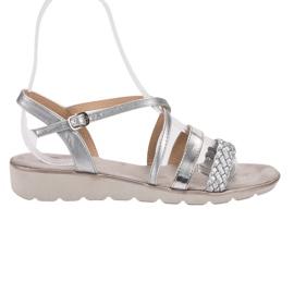 Kylie grijs Zilveren sandalen op het platform