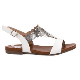 Kylie wit Stijlvolle platte sandalen