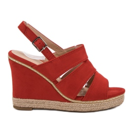 Primavera rood Rode sandalen