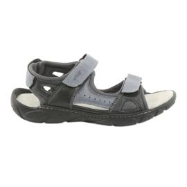 Naszbut Leren sandalen met klittenband 043