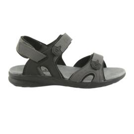 American Club Amerikaanse HL09 zwart / grijze sport sandalen
