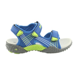 Sandałki chłopięce American Club HL16 blauw / limoen
