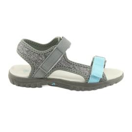Sandalen met lederen inzet American Club RL10 grijs / blauw