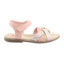 Roze Sandals metalen meisjes American Club GC23