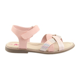 Sandals metalen meisjes American Club GC23 roze