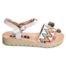 SHELOVET wit Casual sandalen