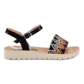SHELOVET zwart Casual sandalen
