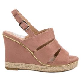 Primavera Poedervormige sandalen roze