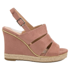Primavera roze Poedervormige sandalen
