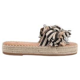Seastar bruin Slippers met riemen