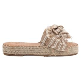 Seastar Slippers met riemen bruin