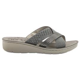 Evento grijs Comfortabele grijze slippers