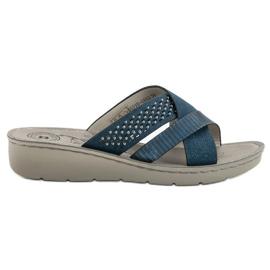 Evento Comfortabele blauwe slippers
