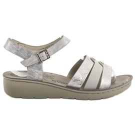 Evento grijs Zilveren sandalen