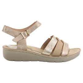 Evento geel Gouden sandalen