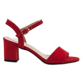 Evento rood Sandalen aan de bar