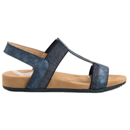 Evento Blauwe instap sandalen