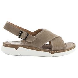 Filippo bruin Leren sandalen op het platform