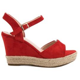 Bello Star rood Espadrilles sandalen