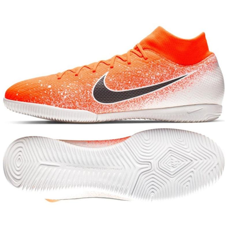 Binnenschoenen Nike Merurial Superflyx 6 Academy Ic M AH7369-801 oranje wit, oranje