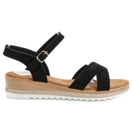 Bello Star zwart Suède sandalen