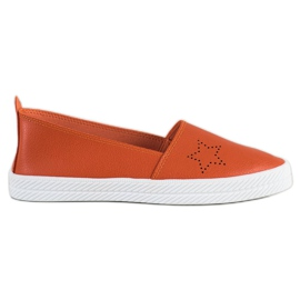 Kylie oranje Slip-on sneakers