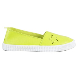 Kylie groen Slip-on sneakers