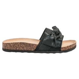 Queen Vivi zwart Casual slippers met brokaat