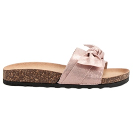 Queen Vivi roze Casual slippers met brokaat