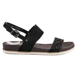 Evento Zwarte opengewerkte sandalen