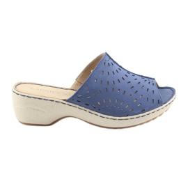 Blauw Damespantoffels koturno Caprice 27351 jeans