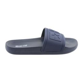 Big Star-slippers geprofileerd 174688 marineblauw
