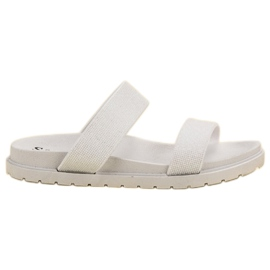 Seastar Glanzende slippers wit